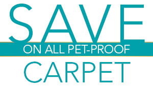Save on all pet proof carpet at Abbey Capitol Floors & Interiors