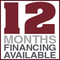 12 Months Financing Special - see store for details!