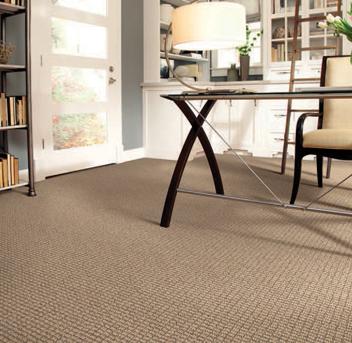 Office scene with tan Infinity nylon carpet